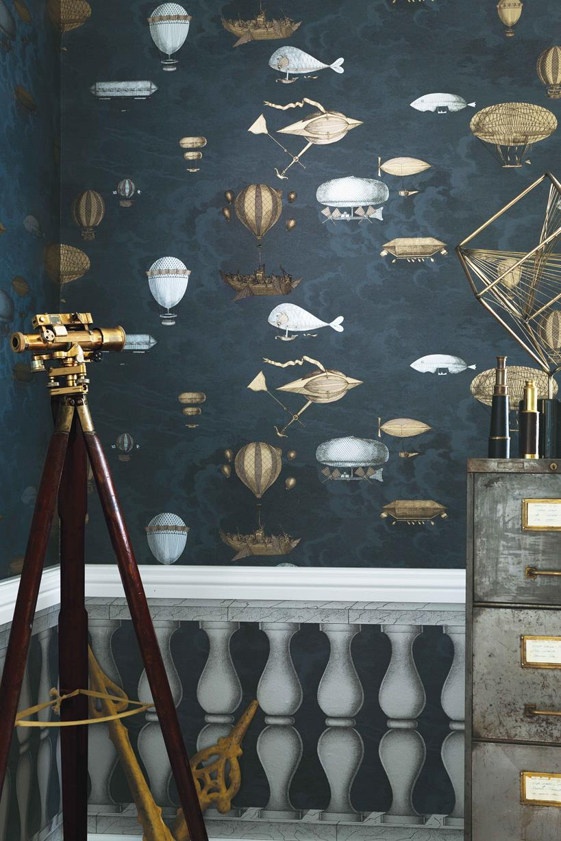 fornasetti tapeter i engelska tapetmagasinet. Black Bedroom Furniture Sets. Home Design Ideas