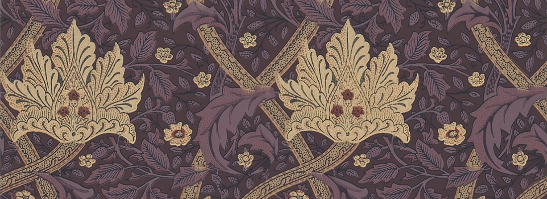 Burgundy tapet - Windrush - Från William Morris