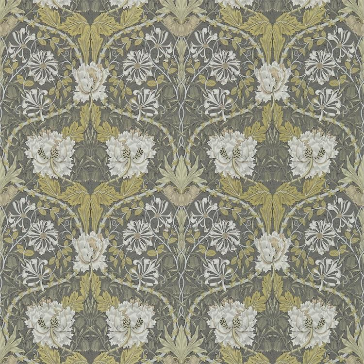 best ll honeysuckle tulip tapet fr n william morris wm165 02. Black Bedroom Furniture Sets. Home Design Ideas
