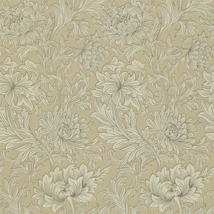 k p chrysanthemum toile tapet fr n william morris wm133 03. Black Bedroom Furniture Sets. Home Design Ideas