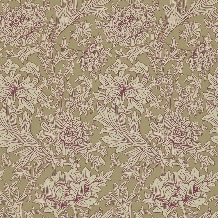 k p chrysanthemum toile tapet fr n william morris wm133 02. Black Bedroom Furniture Sets. Home Design Ideas