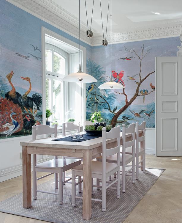 tropical birds ac116 01 tapet fr n au fil des couleurs. Black Bedroom Furniture Sets. Home Design Ideas